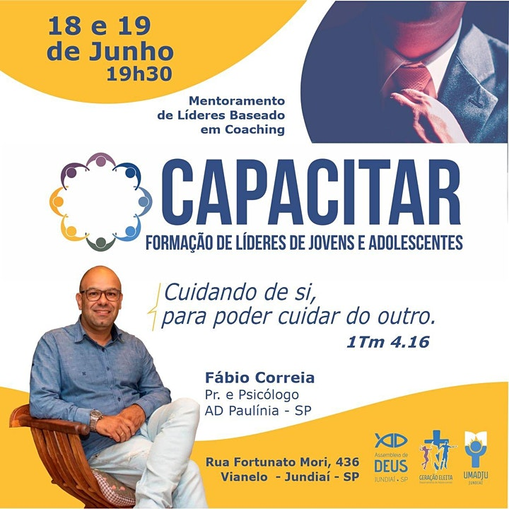 Imagem do evento CAPACITAR 2021 - Formação de Líderes de Jovens e Adolescentes