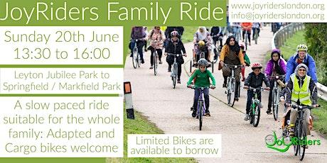 JoyRiders Family Ride: Leyton Jubilee Park to Springfield/Markfield Park tickets