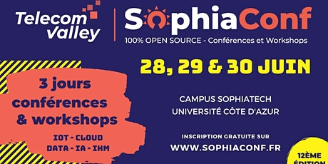 SophiaConf 2021 - Conférences (28-29-30 juin) billets