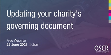 Updating your charity's governing document tickets
