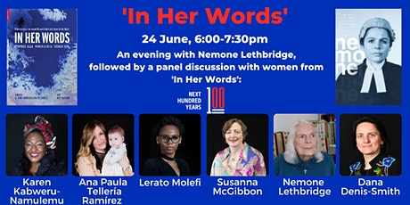 'In Her Words' - stories of women lawyers and leaders boletos