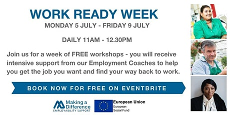 Work Ready Week - Get work ready in one week with our intensive workshops tickets