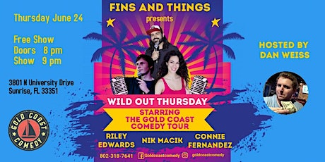 Fins and Things Comedy Show Starring The Gold Coast Comedy Tour tickets