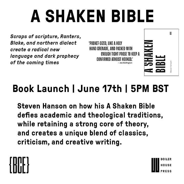 A Shaken Bible - Book Launch - UEA Beyond Criticism Editions image