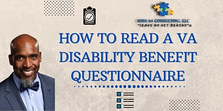 How to read a VA DBQ/Disability Benefit Questionnaire tickets