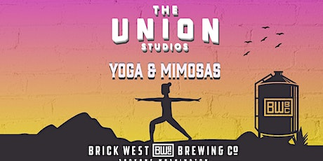 THE UNION PRESENTS: YOGA & MIMOSAS AT BRICKWEST BREWERY tickets