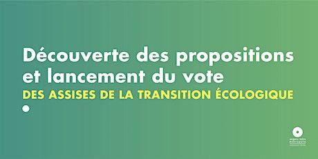 Découverte des propositions et lancement du vote - Agir face à l'enjeu billets