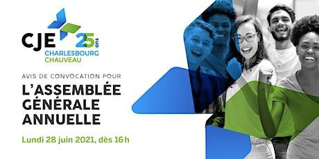 25e ASSEMBLÉE GÉNÉRALE ANNUELLE 2021 billets