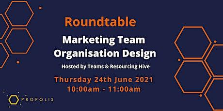 Propolis Roundtable: Marketing Team Organisation Design tickets