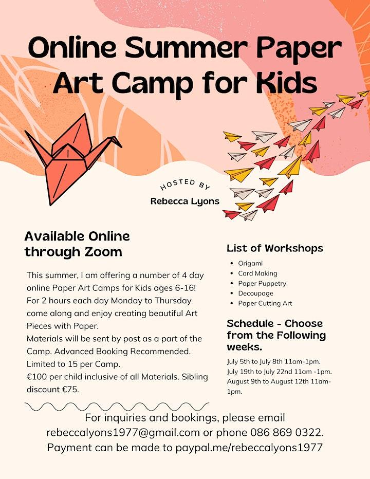 Online Summer Paper Art Camp for Kids image