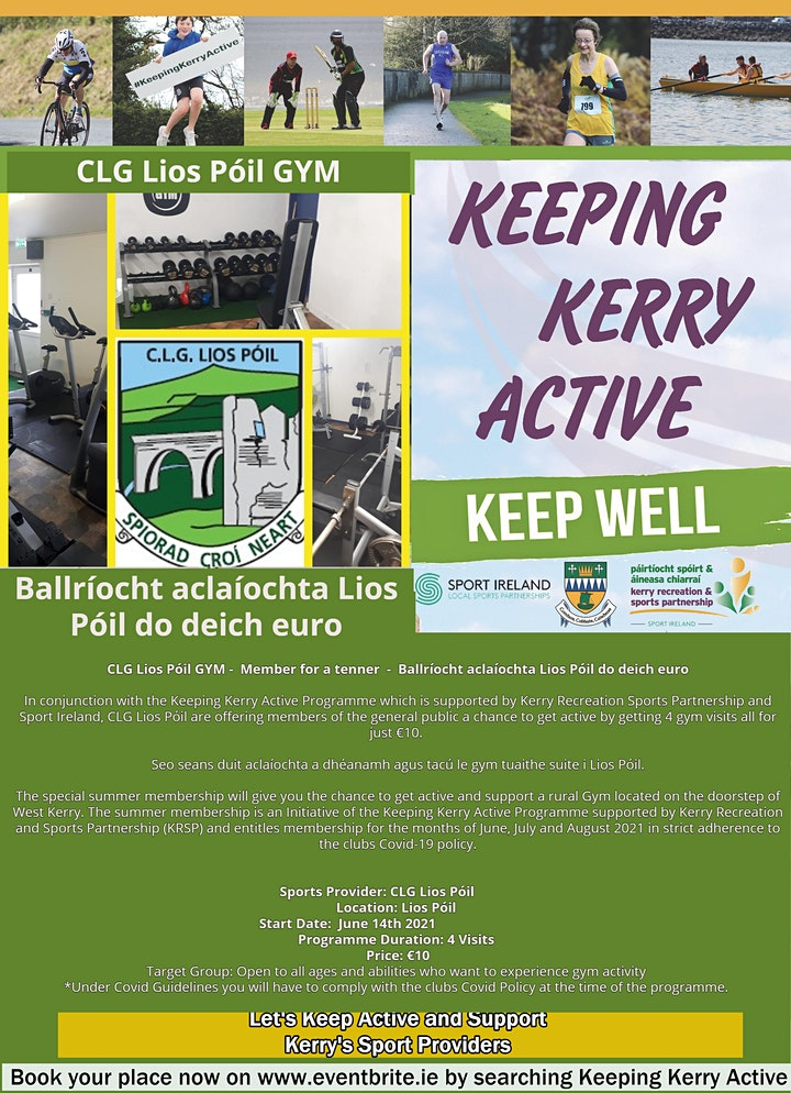 Keeping Kerry Active - Ballríocht aclaíochta Lios Póil do deich euro image