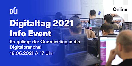 Digitaltag 2021 -  So gelingt der Quereinstieg in die Digitalbranche! Tickets