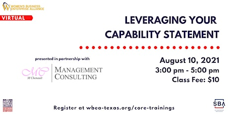 Leveraging Your Capability Statement tickets