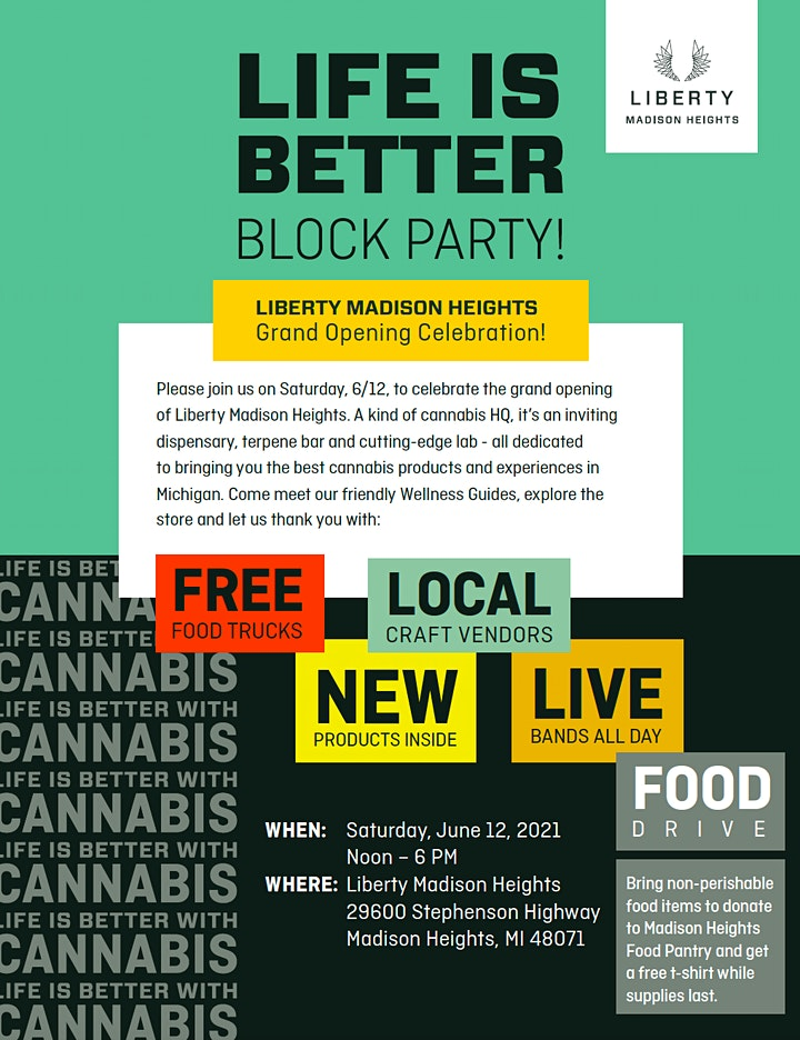 Liberty Madison Heights Grand Opening  - Life is Better Block Party image