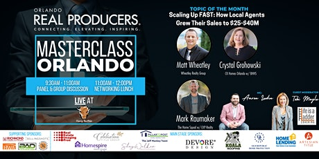 """[LIVE] Masterclass Orlando - """"Scaling Up FAST ($25M-$40M+ tickets"""