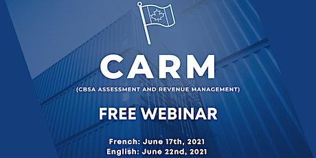 CARM Webinar : The Essentials of Release 1 billets