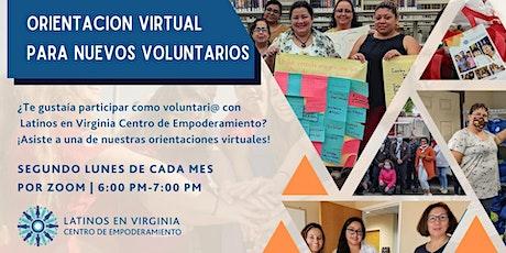 Orientació Virtual para Nuevo Voluntarios boletos