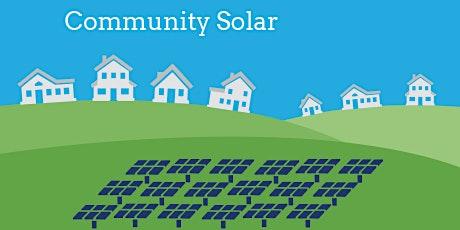 Utility Scale Community Solar Program Virtual Presentation tickets