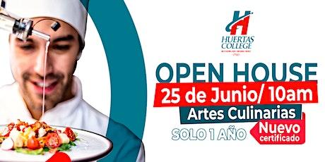 Open House - NUEVO Certificado en Artes Culinarias (Libre de costo) tickets