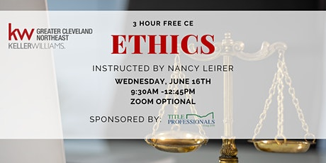 3 hr Ethics CE with Nancy Leirer tickets