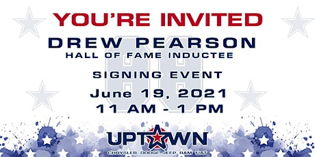 Celebrate Hall of Fame Inductee Drew Pearson at UPTOWN! tickets