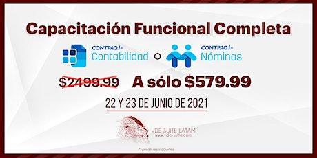 Capacitación Funcional CONTPAQi® Contabilidad o CONTPAQi® Nómina entradas