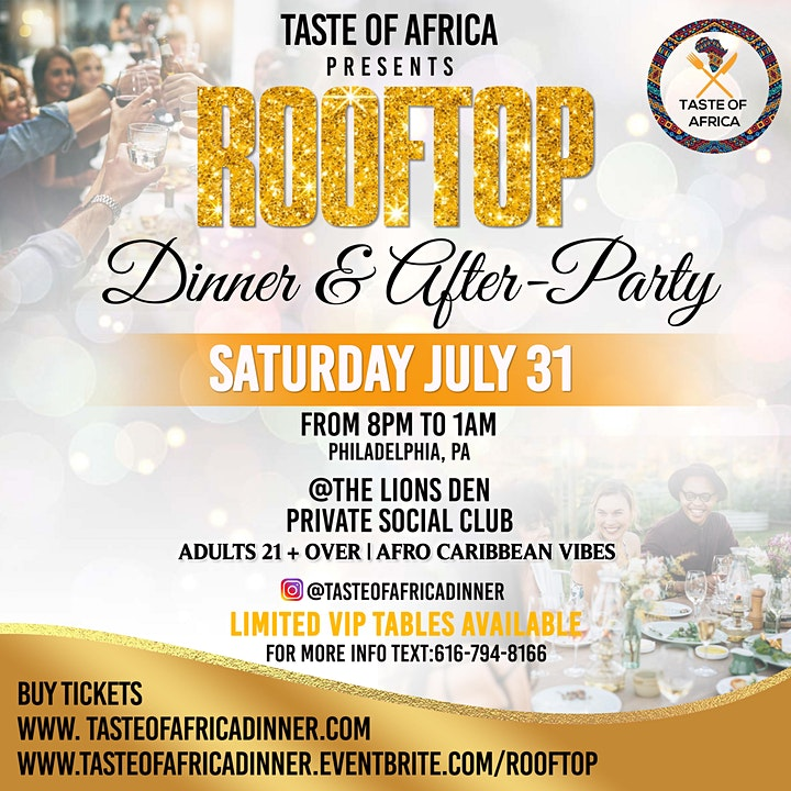 Taste of Africa Rooftop Dinner & After-Party image