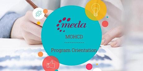 Orientación del Programa de MOHCD  con MEDA  (26 de Octubre) boletos