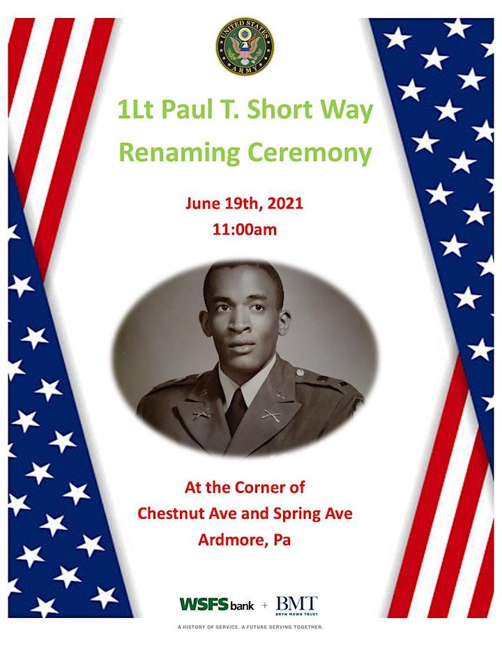 1Lt Paul T. Short Street Renaming Ceremony in Ardmore, Pa image