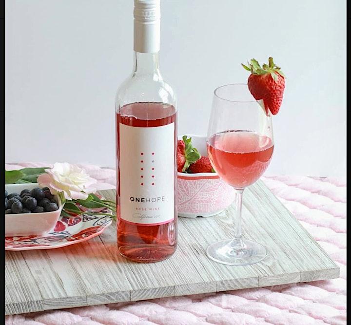Cupcakes &  Rosé. Wine Tasting image