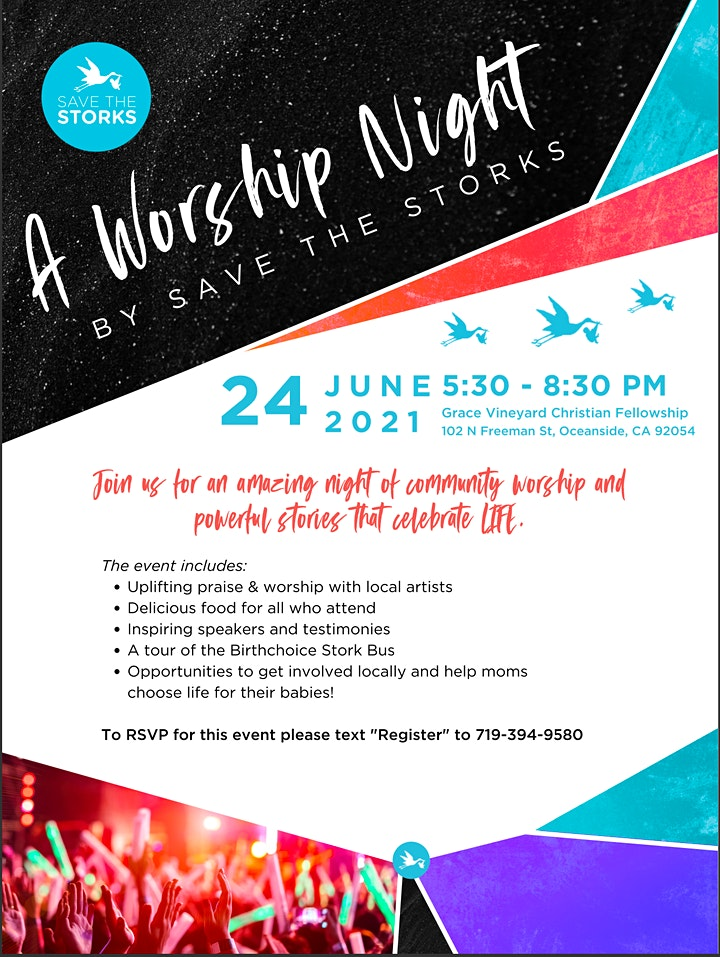 A Worship Night with Save the Storks image