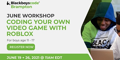 Black Boys Code Brampton - Coding Your Own Video Game With Roblox tickets