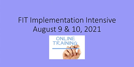 FIT Implementation Intensive 2021 tickets