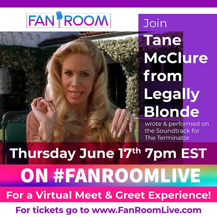 FanRoom Live hosted by Tane McClure from Legally Blonde! image