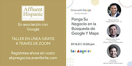 Ponga Su Negocio en la Búsqueda de Google Maps tickets