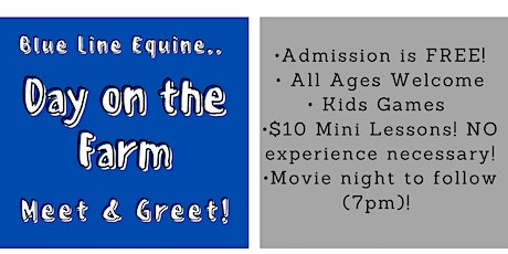 Day on the Farm- Meet and Greet! tickets