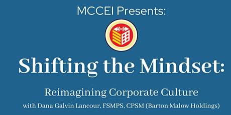Shifting the Mindset: Reimagining Corporate Culture Tickets