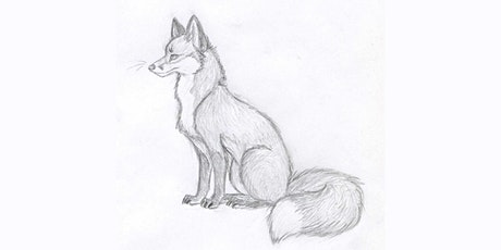 60min Animal Pencil Sketching Art Lesson - Wolf @3PM (Ages 6+) tickets