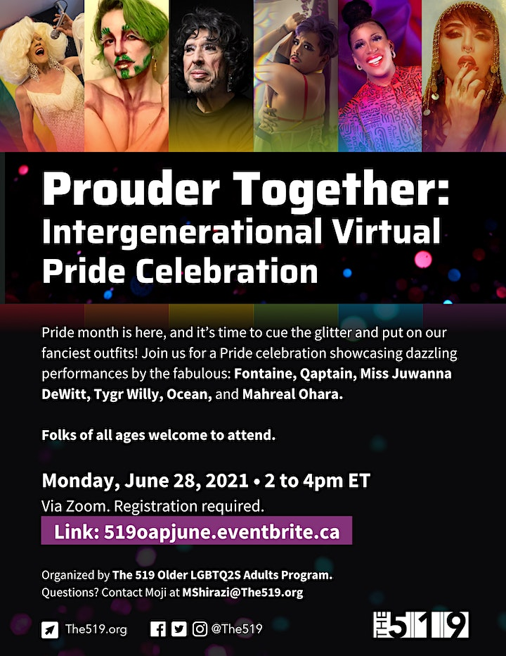 Monday Virtual event for older LGBTQ2S adults (PRIDE EDITION) image