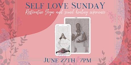 Self Love Sunday (virtual restorative yoga & sound-healing experience) tickets