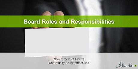 Board Development Program - Board Roles and Responsibilities Webinar tickets