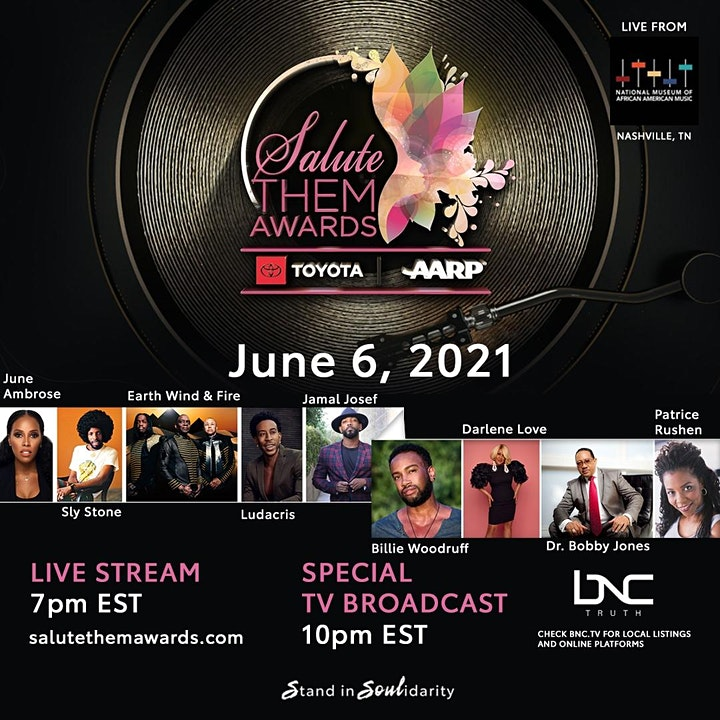 2021 Virtual Salute THEM Awards w/ Sly Stone, Earth, Wind & Fire and more image
