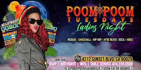 "Poom Poom Tuesdays ""LADIES NIGHT"" tickets"