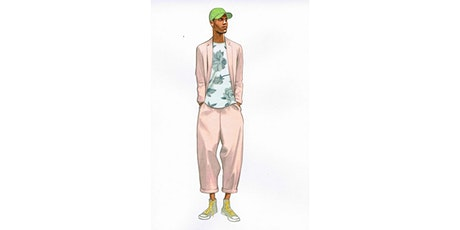 60min Fashion Sketching Lesson -  Men's Summer Fashion @3PM (Ages 7+) tickets