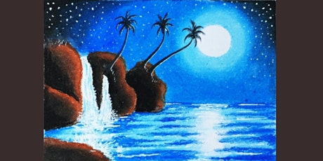 60min Paint A Landscape Scenery - Waterfall @1PM  (Ages 6+) tickets