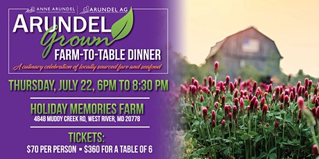 Arundel Grown Farm-to-Table Dinner tickets