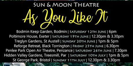 As You LIke It Outdoor Theatre Event tickets