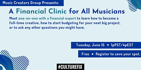 A Financial Clinic for Musicians tickets