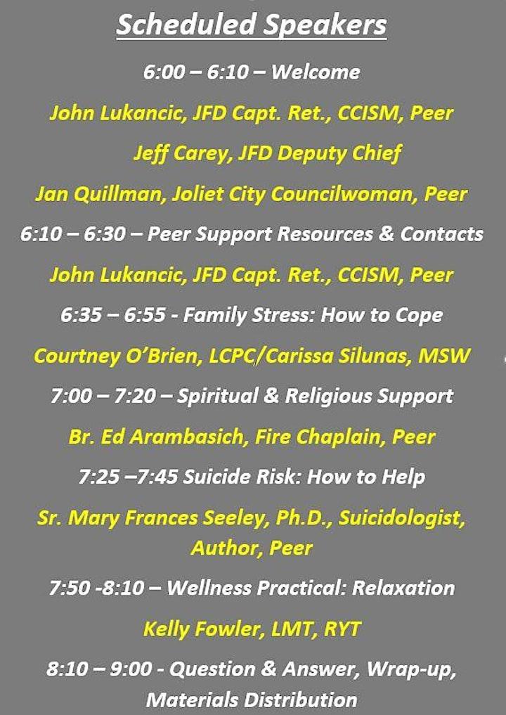 JFPSG Firefighter/Responder Loved-Ones Workshop image