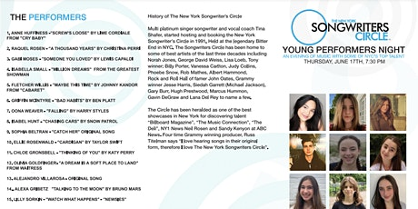 New York Songwriter's Circle Young Artist Showcase tickets
